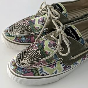 Sperry Topsider Bahama Floral Canvas Sneaker 9.5